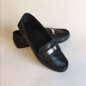 Coach Black Leather Loafers Flats size 6B
